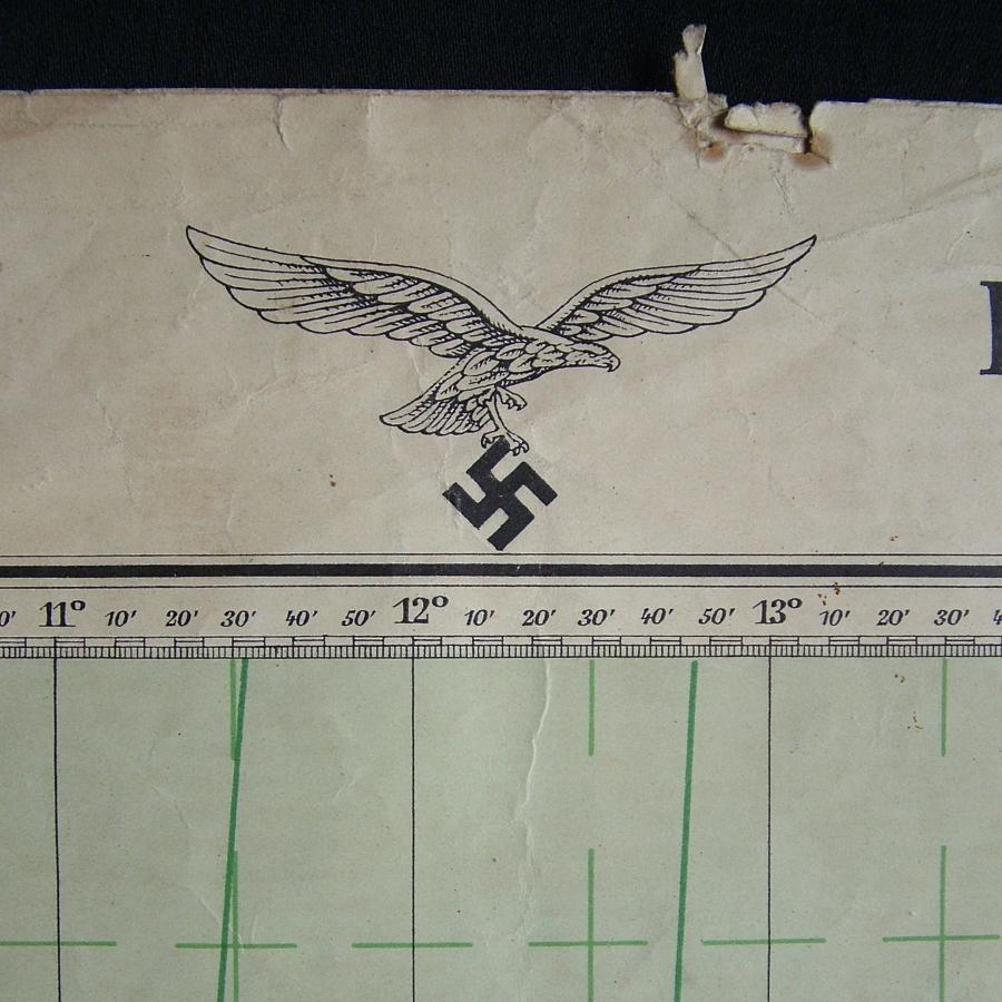 Luftwaffe flight map - Europe