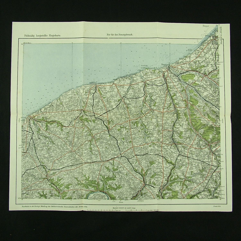 WW1 German air map - Dieppe