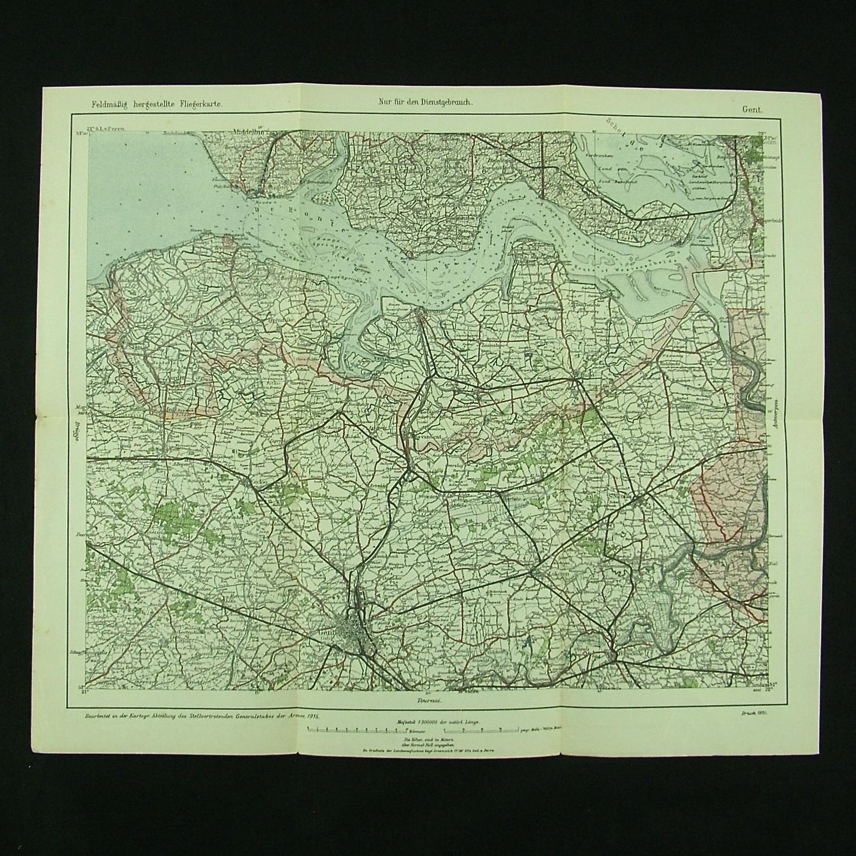 WW1 German air map - Gent