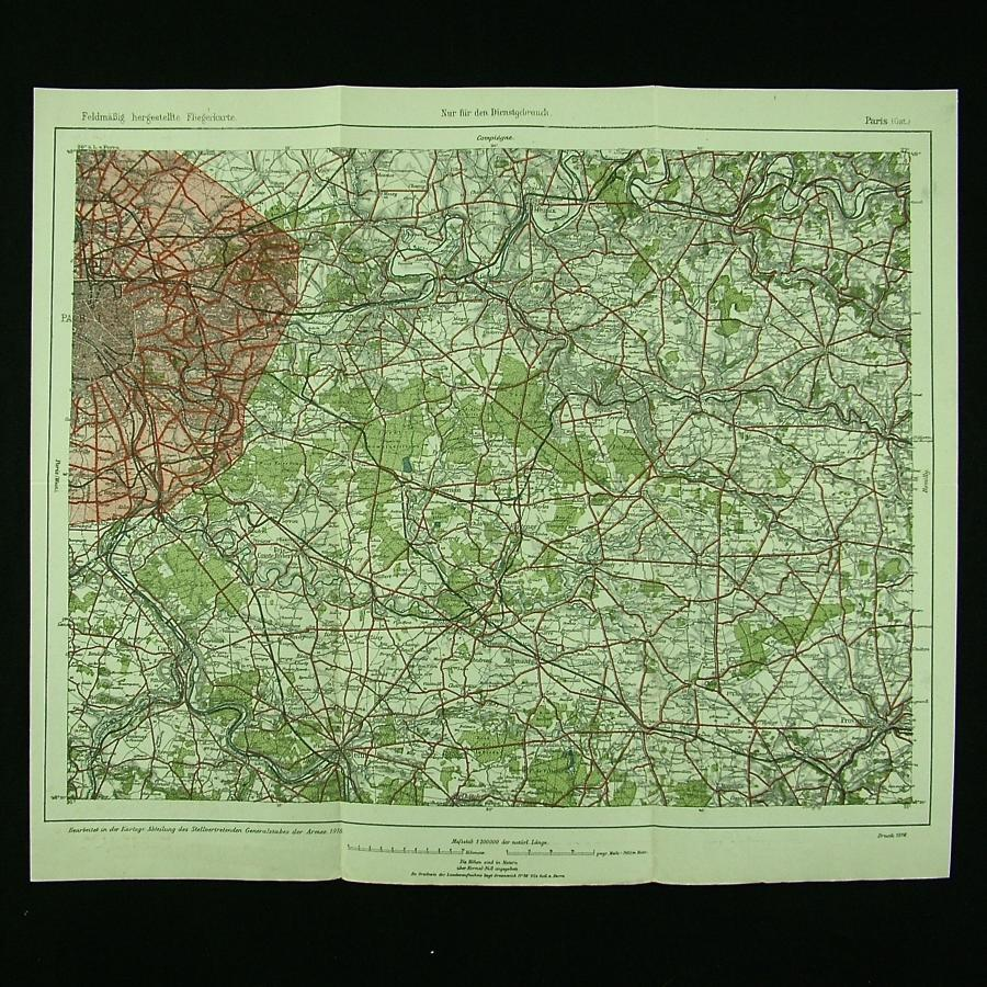 WW1 German air map - Paris (East)