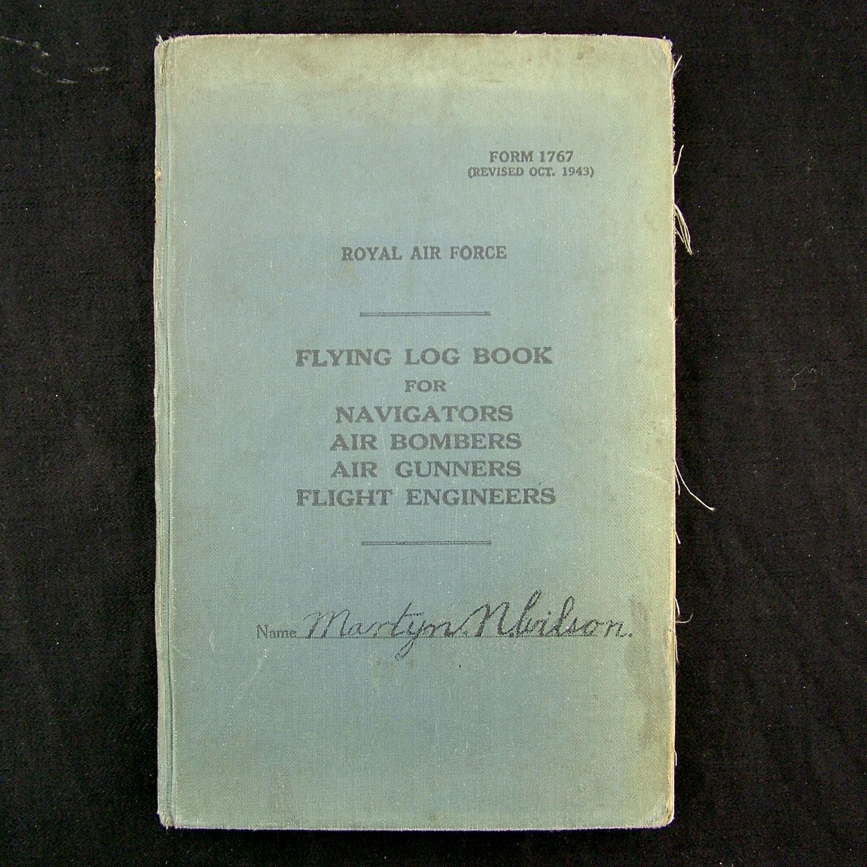 RAF flight engineer's log book