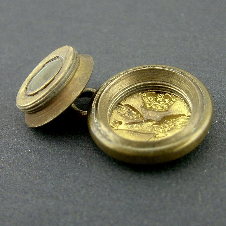 RCAF escape & evasion compass button - rare small size