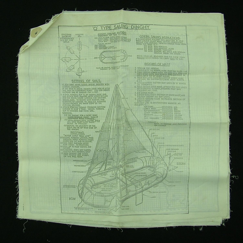 RAF Q-type dinghy sailing instructions & silk maps