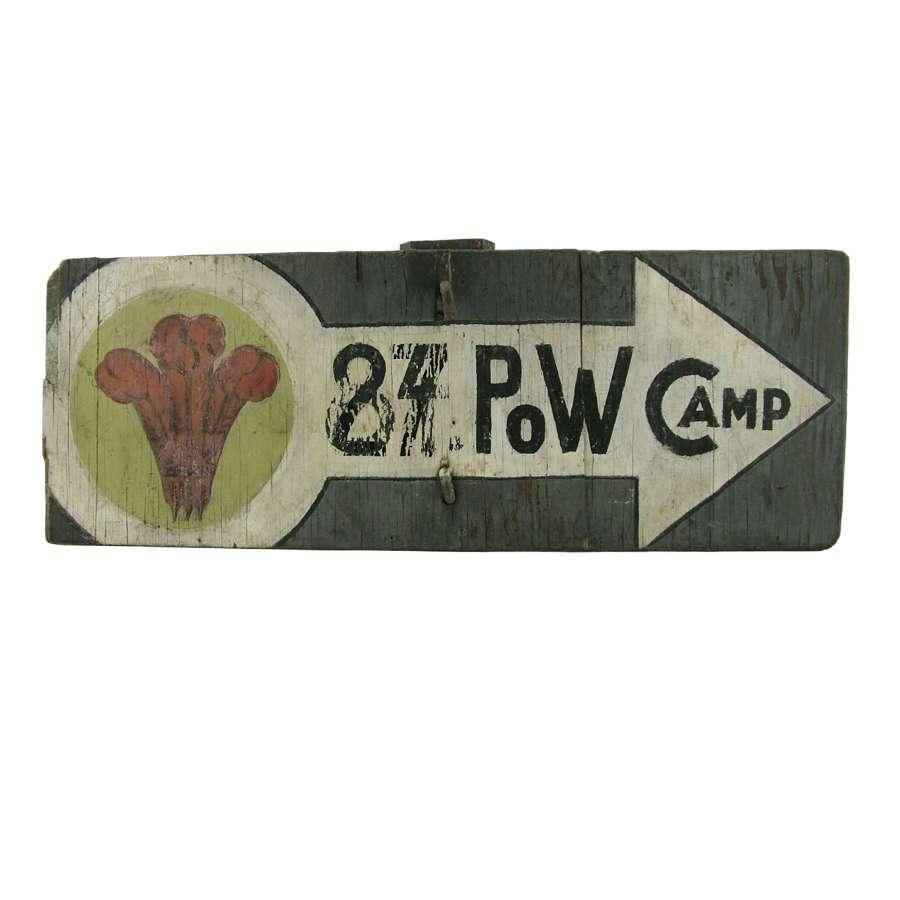 Original POW camp sign