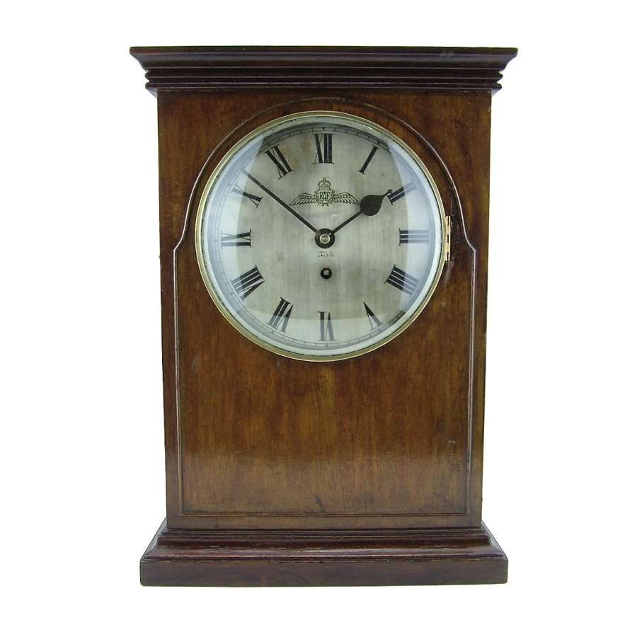 RAF mantle clock, large, rare dial and maker, 1929