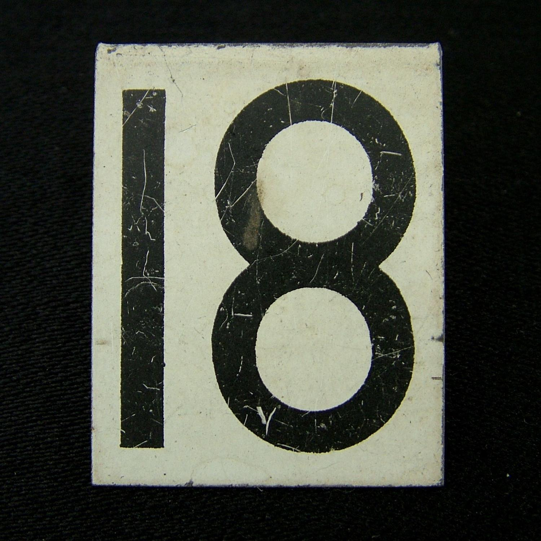 RAF operations room tile '18'