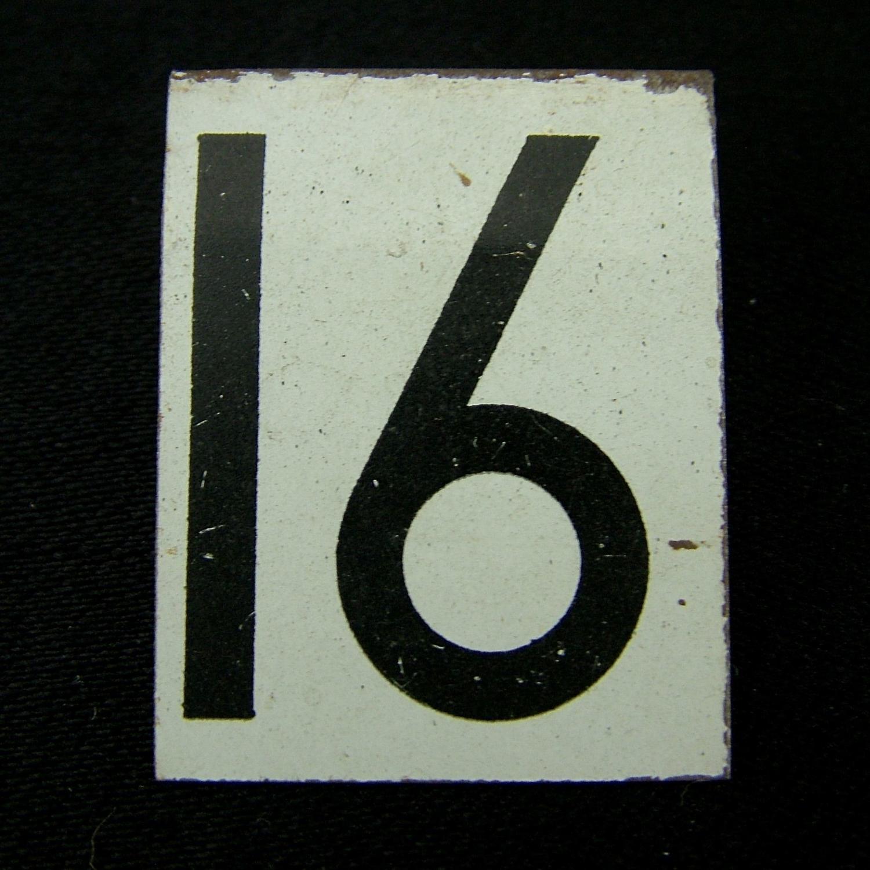RAF operations room tile '16'