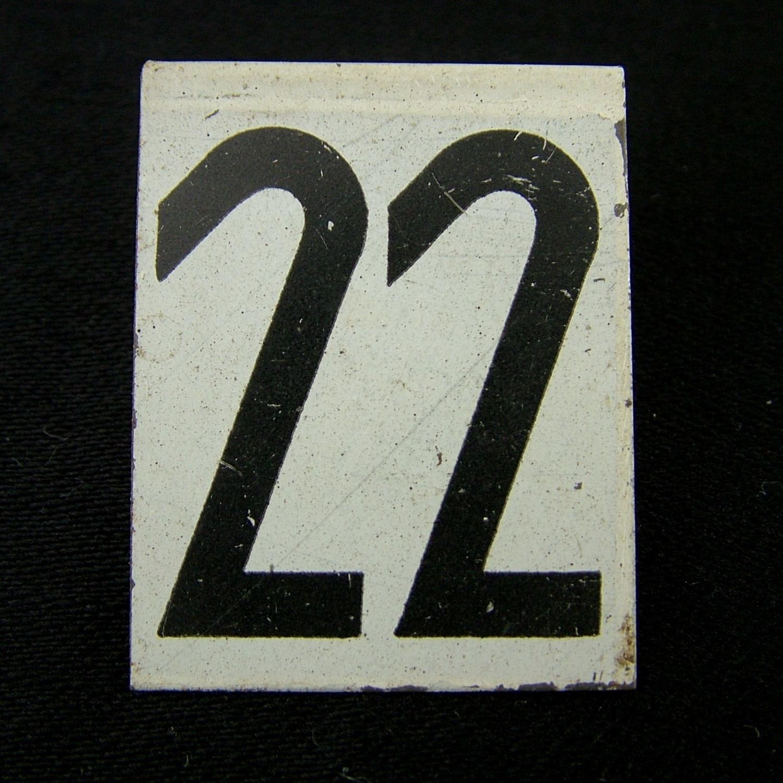 RAF operations room tile '22'