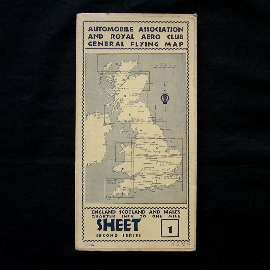 Pre WW2 AA / Royal Aero Club map - Sheet 1