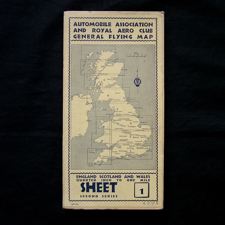 Pre WW2 AA / Royal Aero Club map - Sheet 1