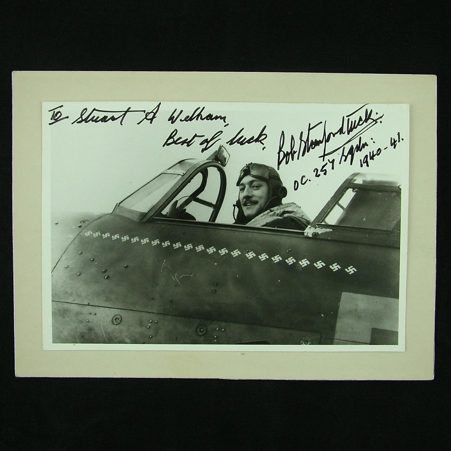 Signed photograph of Bob Stanford Tuck