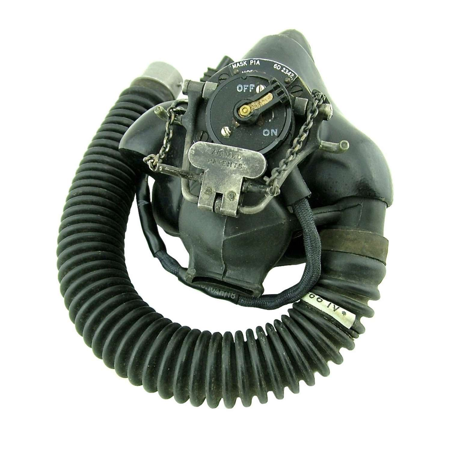 RAF type P oxygen mask/tube