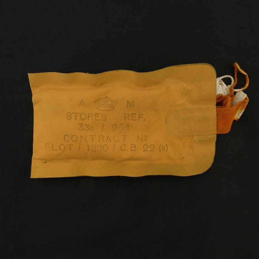 RAF 1941 pattern Mae West dye pack