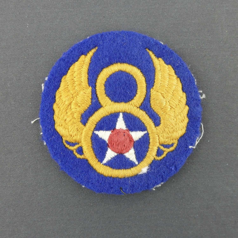 USAAF 8th AF shoulder patch - English made