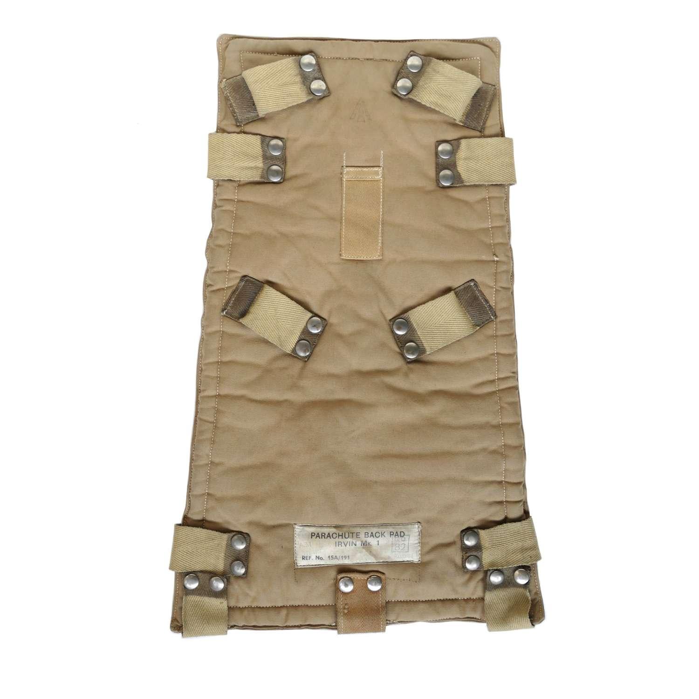 RAF parachute harness backpad