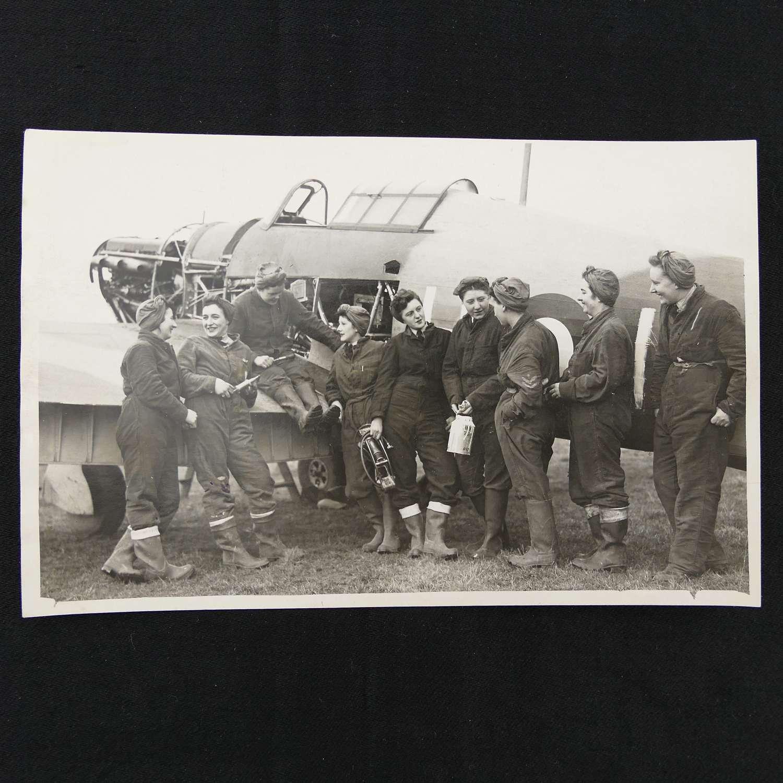 Press photograph - WAAFs & Hurricane