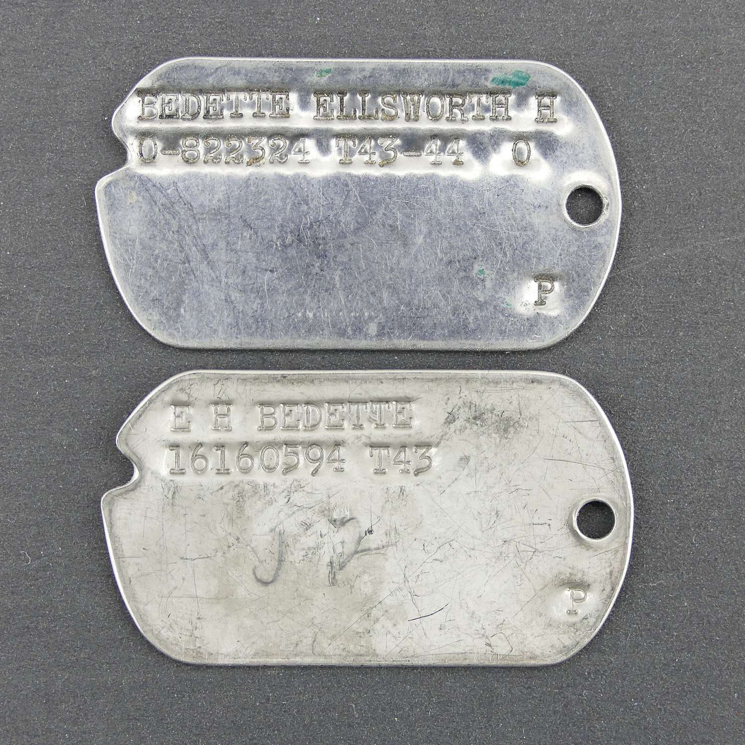 USAAF 15TH AAF Pilot's dog tags