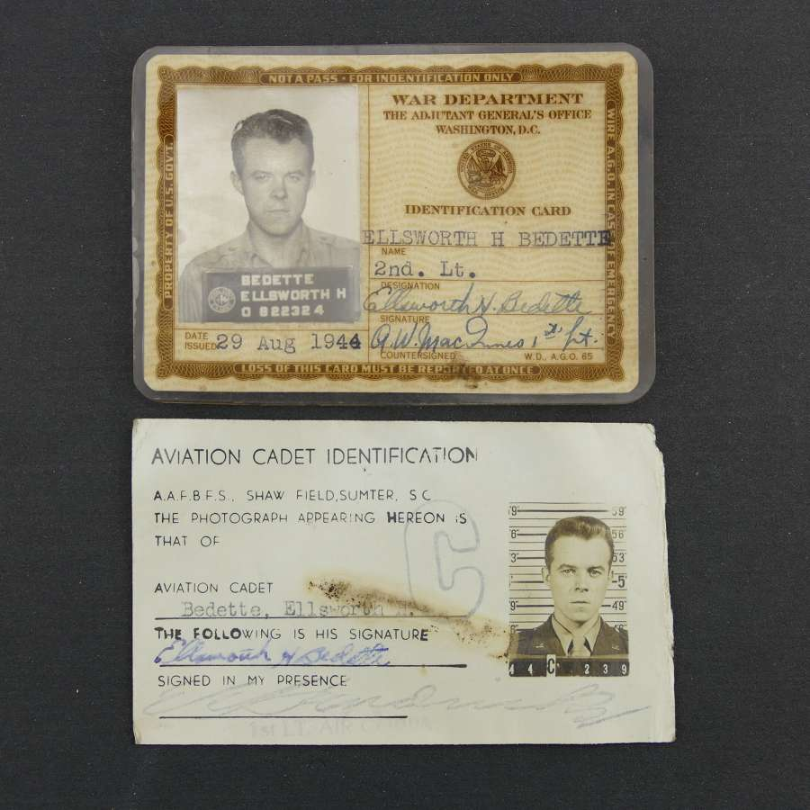 USAAF 15th AAF Officer's ID cards
