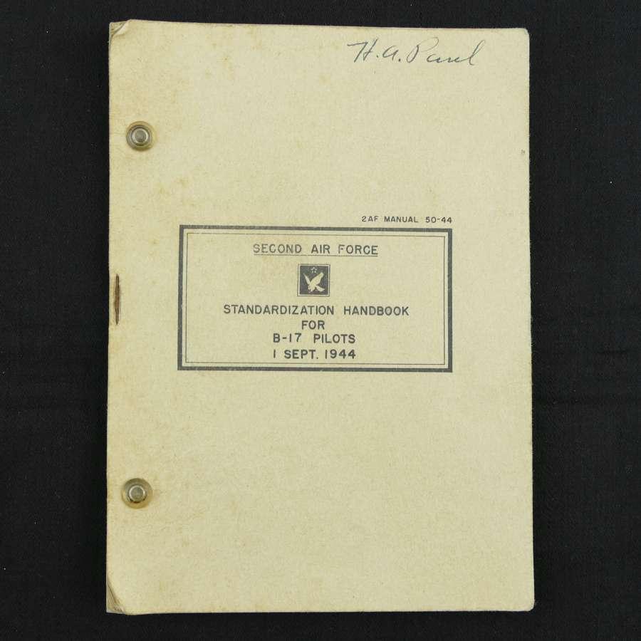 USAAF standardisation handbook for B-17 pilots - history