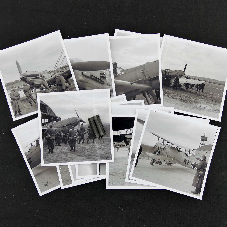 Original Luftwaffe photo negatives - Me109s etc