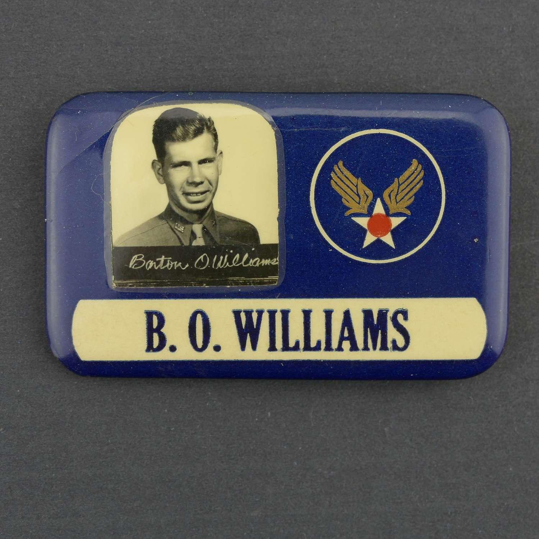 USAAF metal identity badge