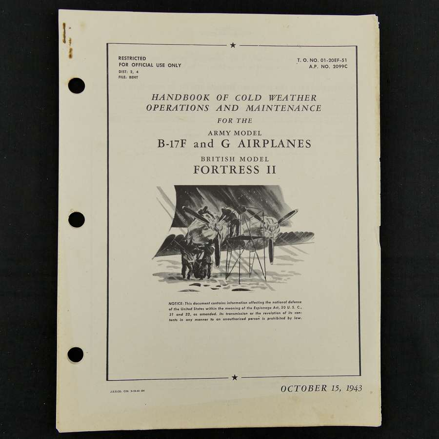 USAAF B-17 coldweather operations & maintenance handbook, 1943
