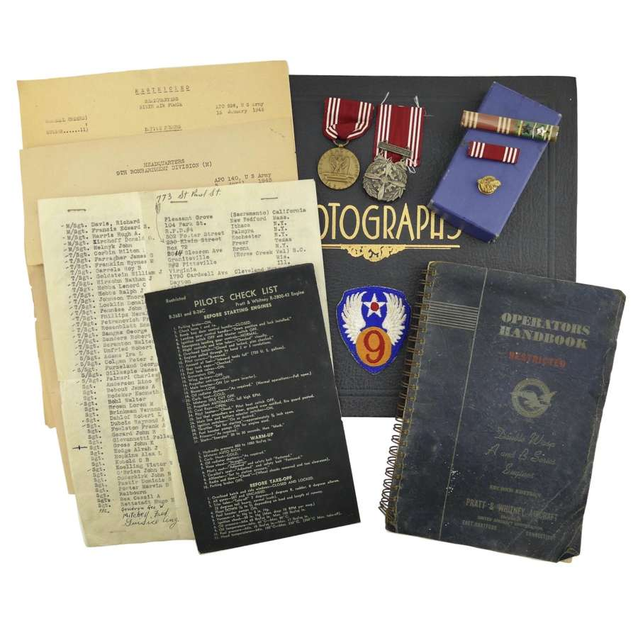 USAAF 9th AAF photograph album grouping