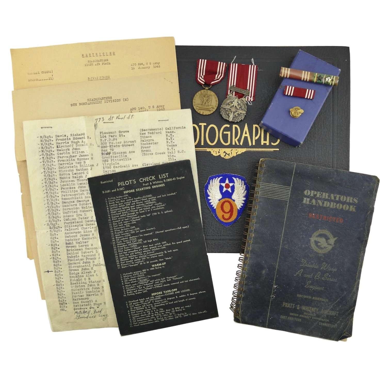 USAAF 9th AAF photograph album grouping