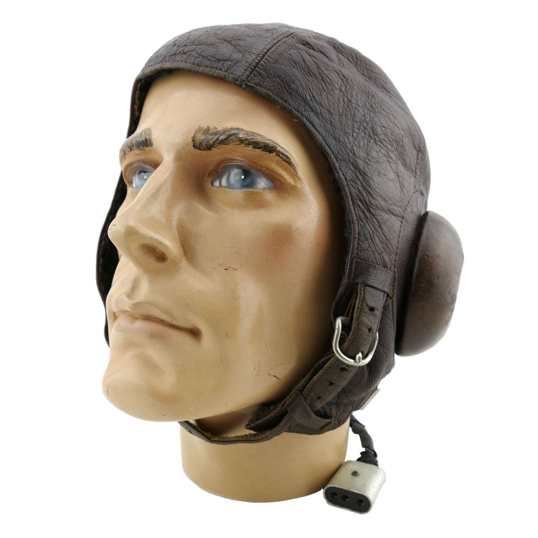 Imperial Japanese Naval internally wired flying helmet, type 3