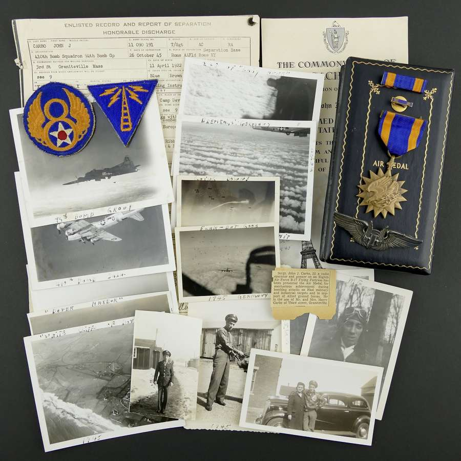 USAAF 8th AAF 94th bomb group air medal grouping