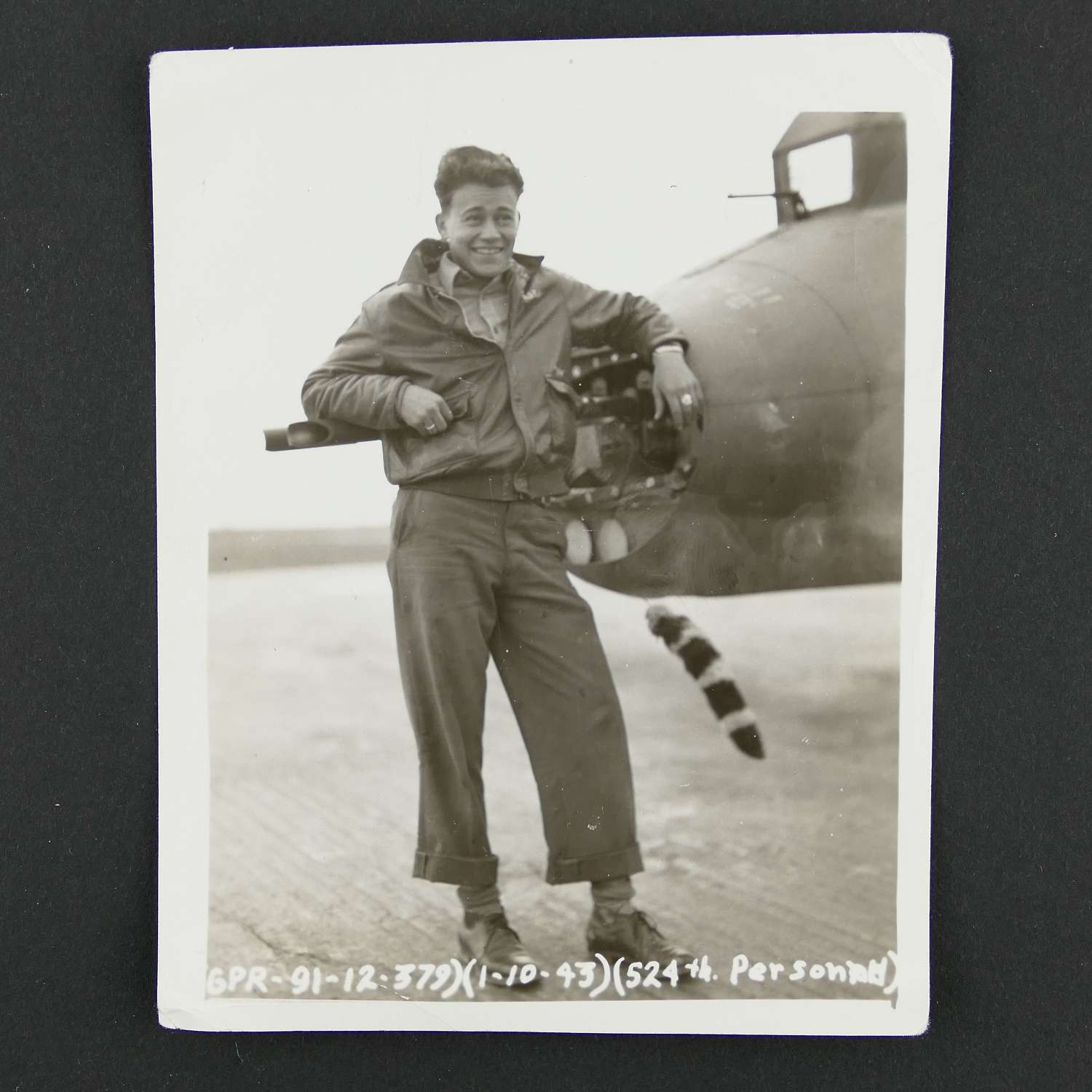 USAAF 8th AAF photo - 524th bomb squadron rear gunner