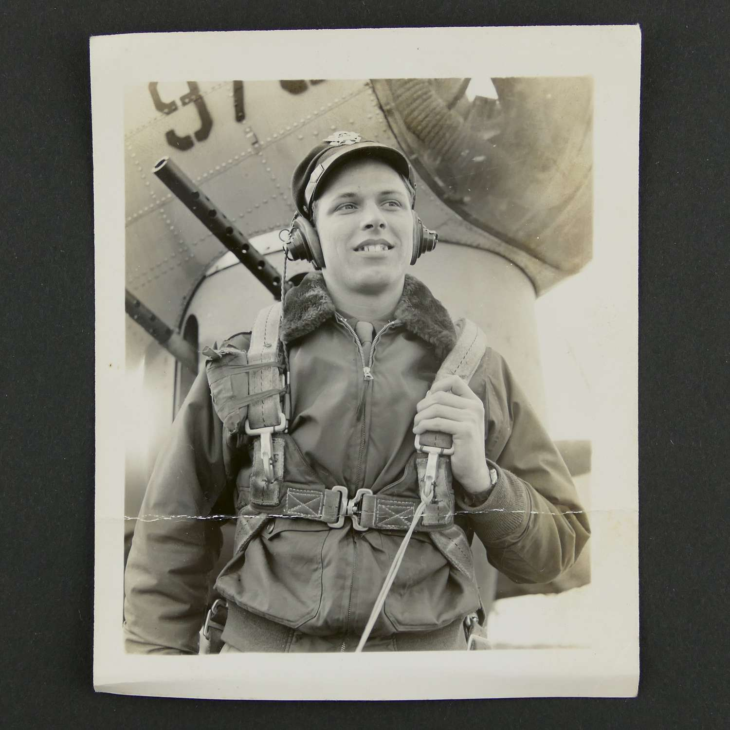 USAAF photo - airman in flying kit