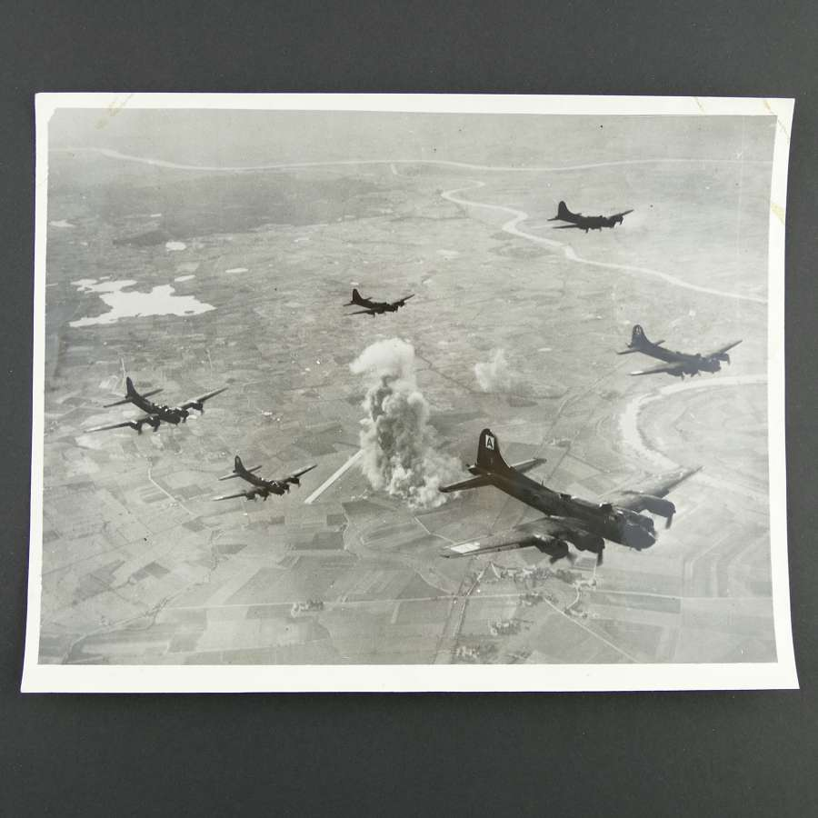 USAAF official photo - 94th Bomb Group over Germany