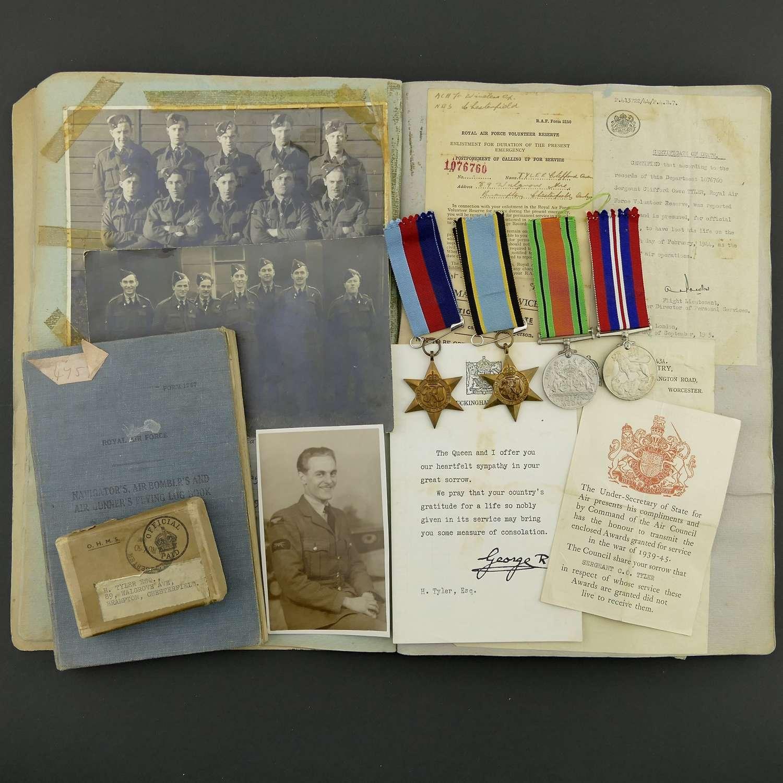 RAF KIA wireless operator's log book grouping, 77 Squadron
