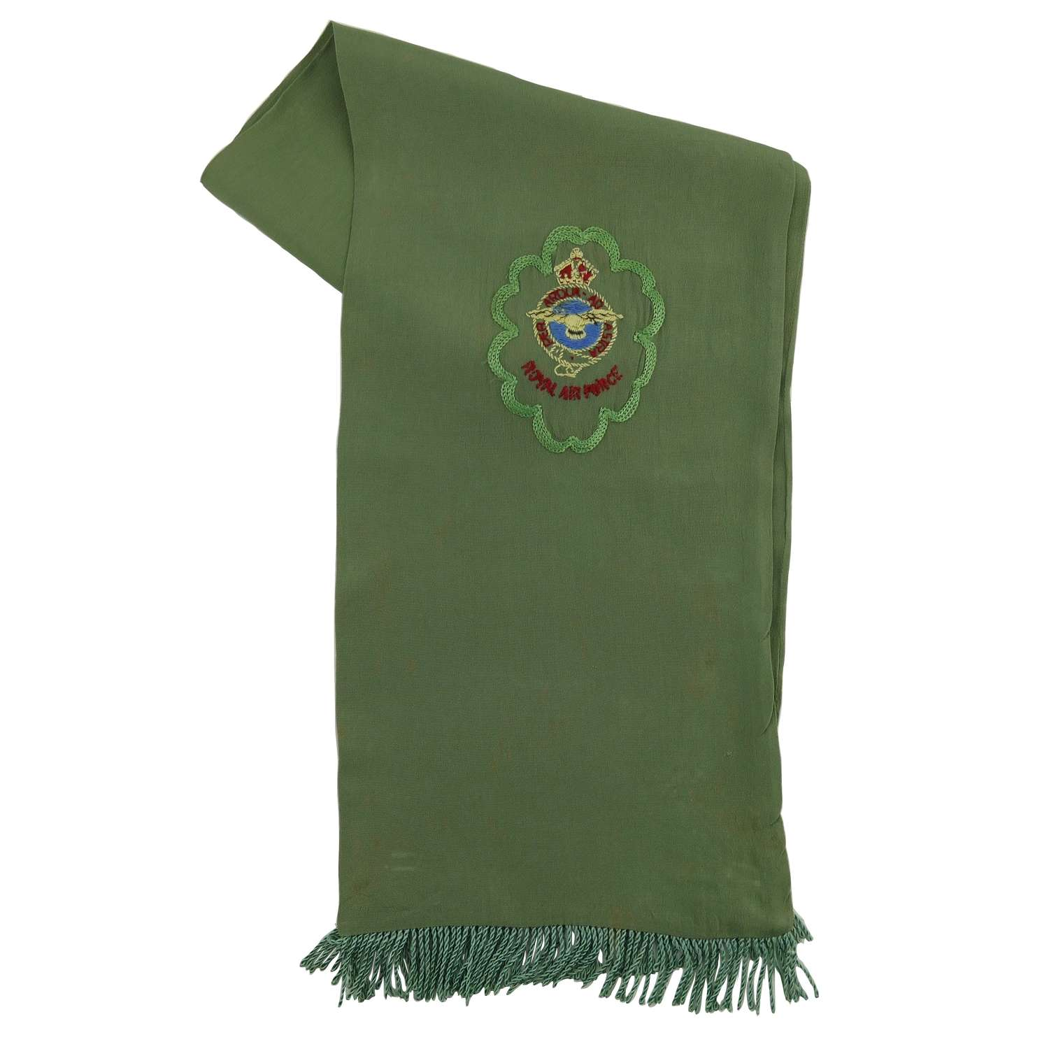 RAF fighter pilot type scarf - green