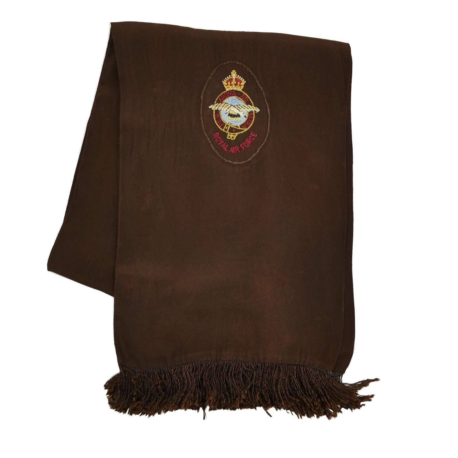 RAF fighter pilot type scarf - brown