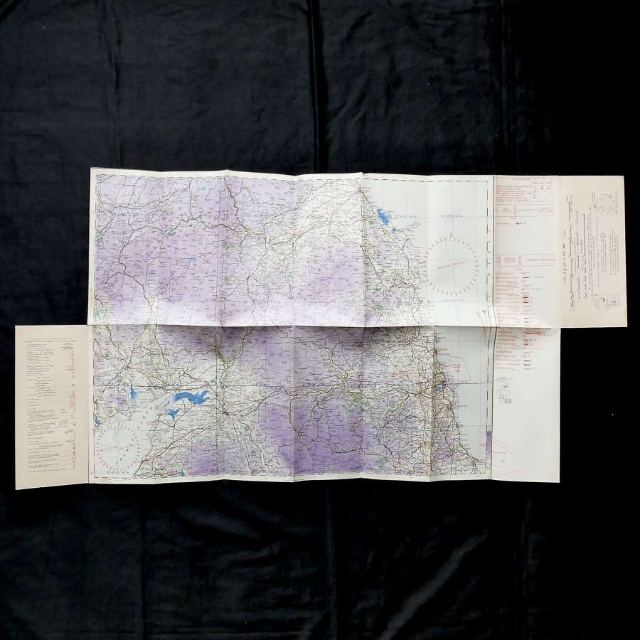 RAF flight map - The Border