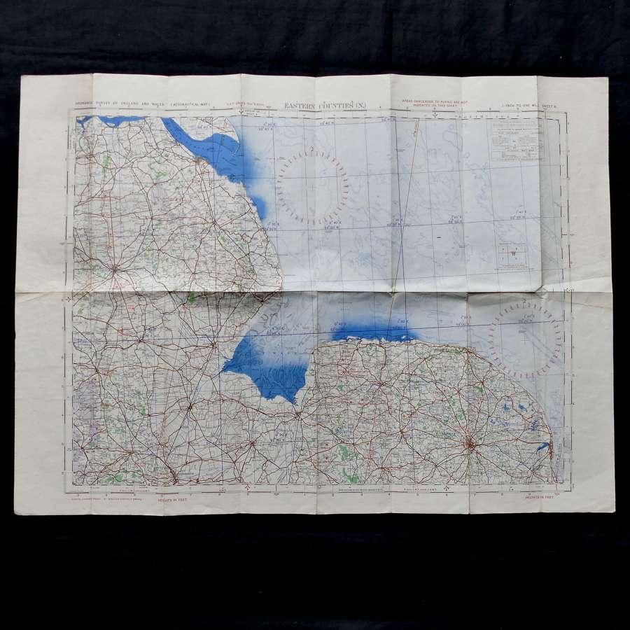 RAF flight map - Eastern Counties (N)