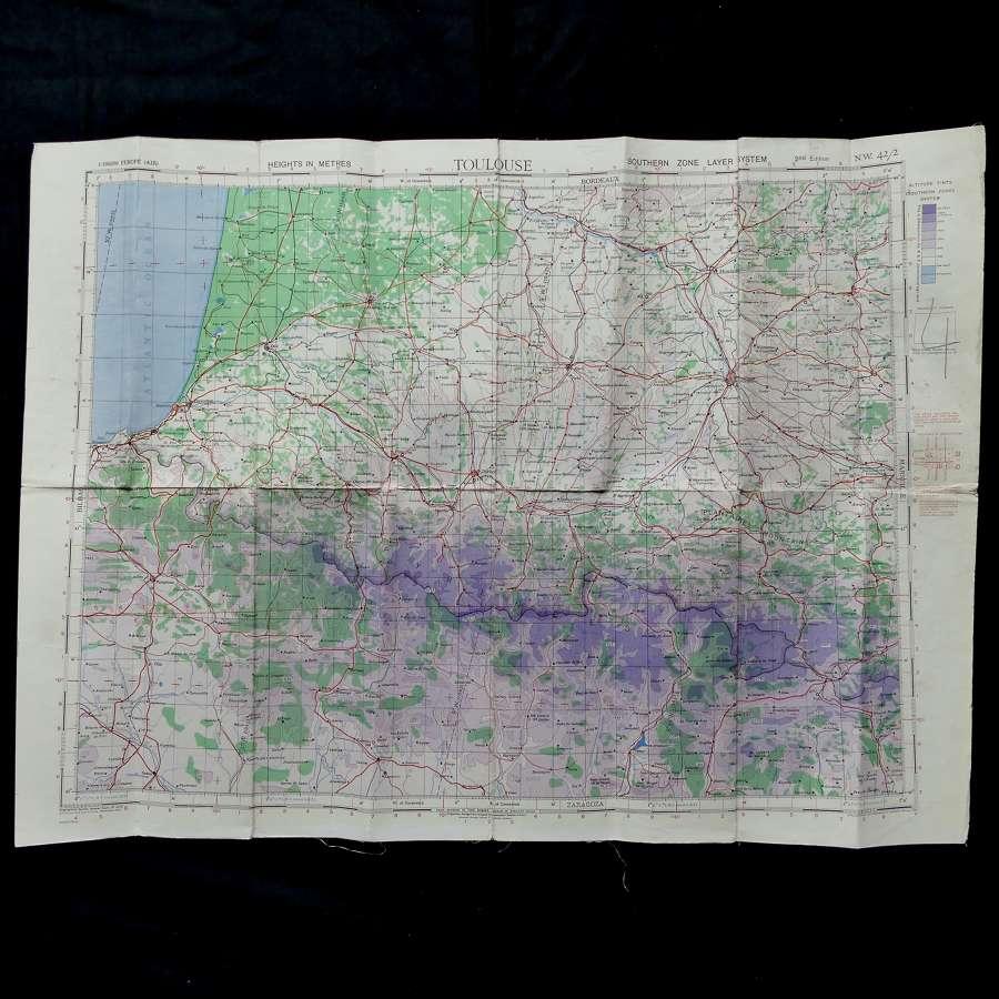 RAF flight map, Toulouse