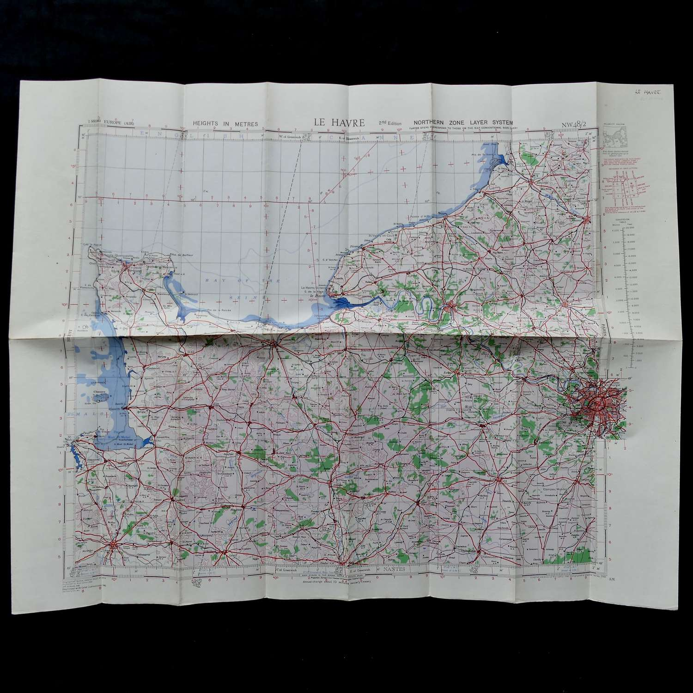 RAF flight map, Le Havre