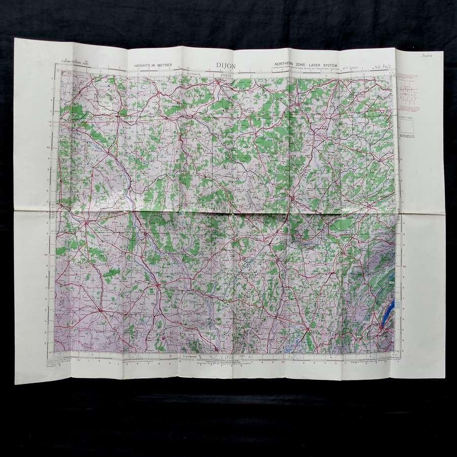 RAF flight map, Dijon