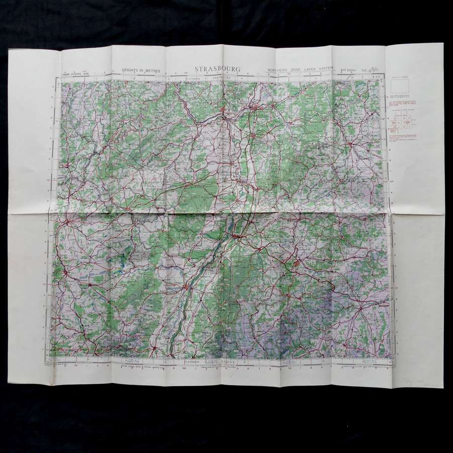 RAF flight map, Strasbourg