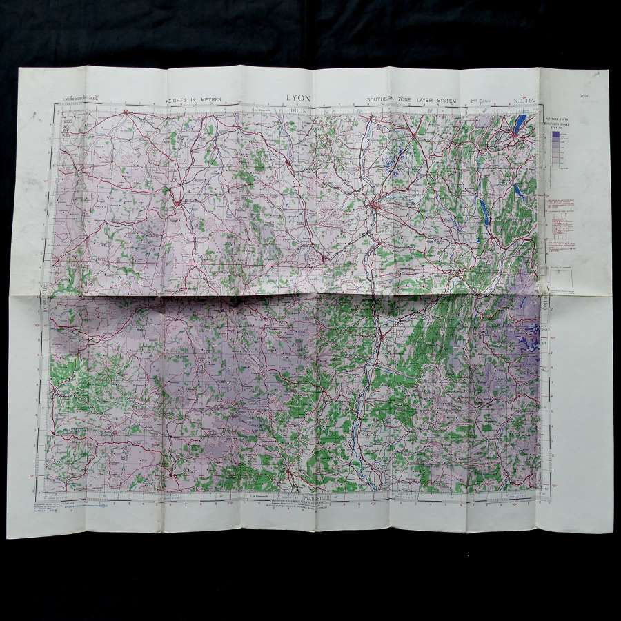 RAF flight map, Lyon