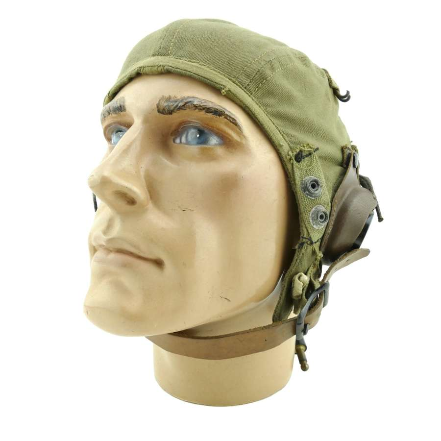 USAAF type A-9 flying helmet, wired