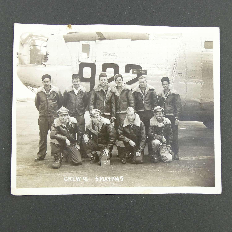 Original USAAF photograph - B-24 crew