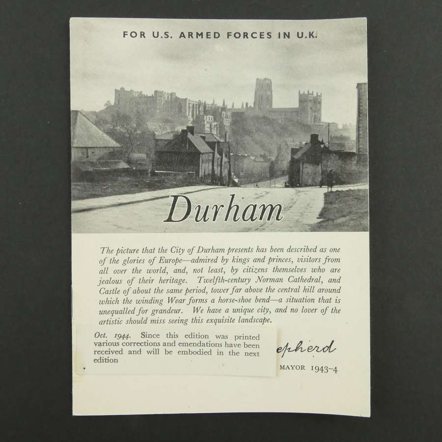 Guide to Durham for US Armed Forces in the UK, 1944
