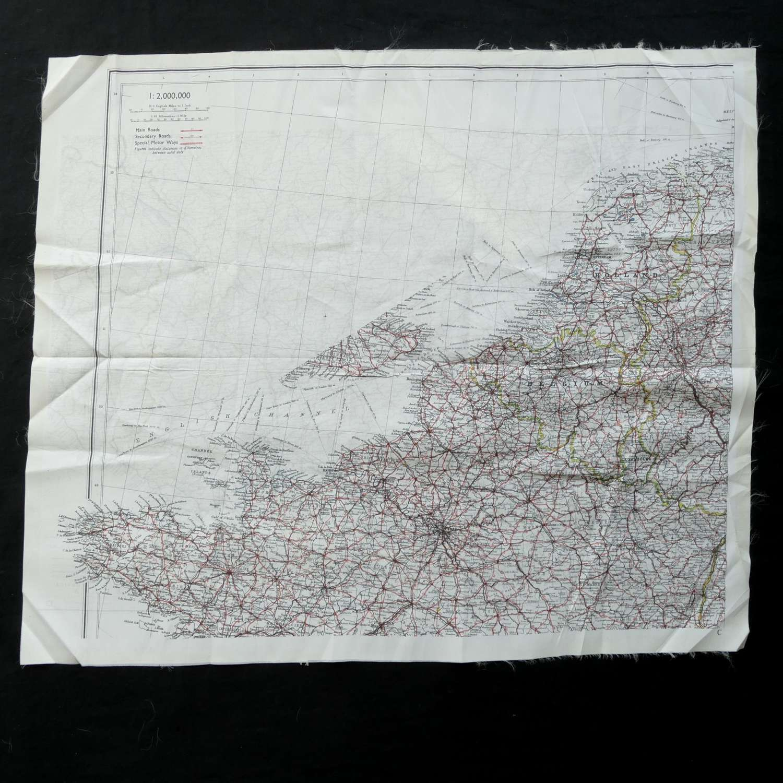 RAF escape and evasion map - European C/D