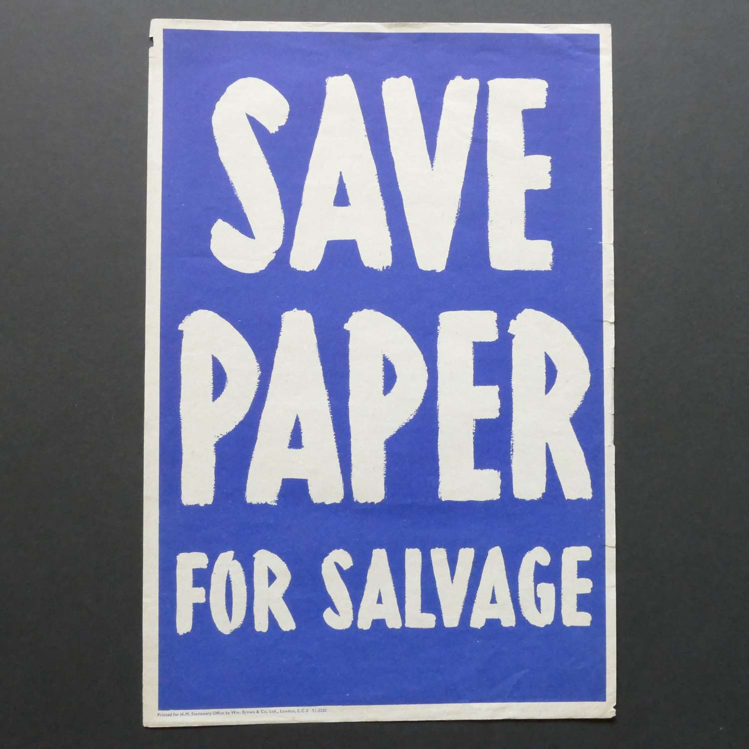 WW2 Save Paper poster