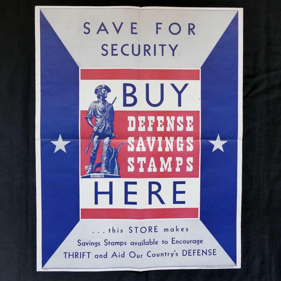 WW2 American savings poster