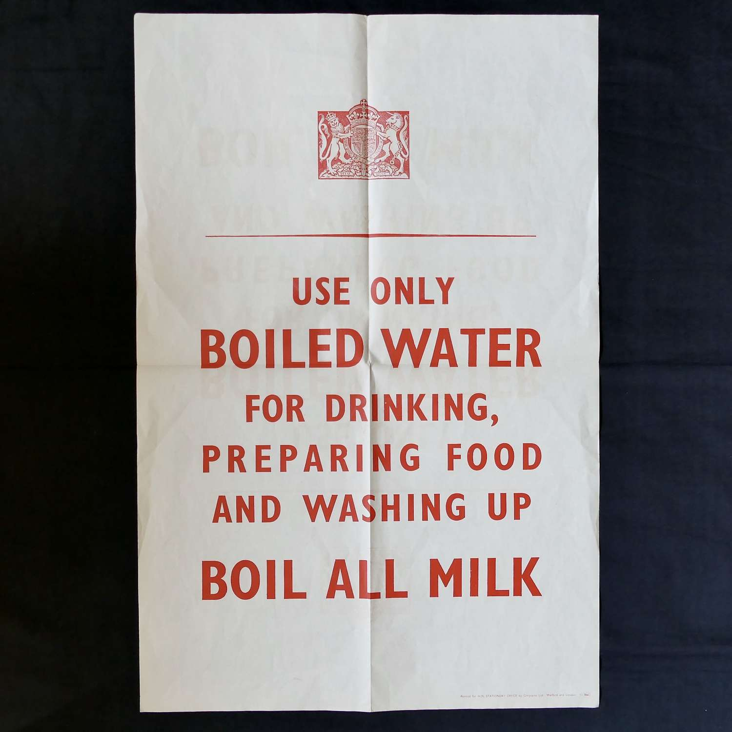 WW2 water use poster